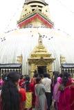 Nepalese Temple Pilgrimage Royalty Free Stock Photo
