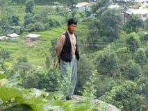 Nepalese veehoeder royalty-vrije stock afbeelding