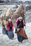 Nepalese women working Royalty Free Stock Photo