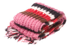 Nepalese Woolen Scarf Isolated Stock Image