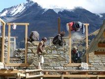 Nepalesische Arbeitskräfte Stockbild