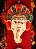 Nepalesische handgefertigte Maske Stockfotografie