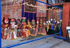 Nepalesische Marionetten in Kathmandu. Stockfoto