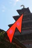 Nepalesische Markierungsfahne Lizenzfreie Stockbilder