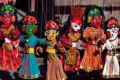 Nepalesisches Puppenspiel Stockfotos