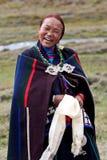 Nepalesisk kvinna Arkivfoton