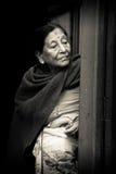 Nepalesisk kvinna, Durbar fyrkant, Katmandu, Nepal Royaltyfria Foton