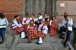 Nepalesisk militär orkester Arkivbild