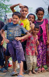 Nepalesiska barn i Chitvan, Nepal Fotografering för Bildbyråer