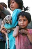 Nepalesiska flickor Arkivfoto