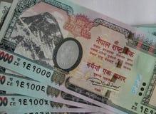 Nepalesiska sedlar 1000 rupier Royaltyfri Bild
