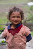 Nepalesiskt barn Fotografering för Bildbyråer
