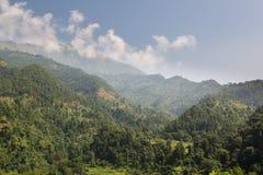 Nepalesiskt landskap nära Katmandu Arkivbild