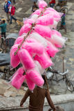 A Nepali boy sells candy floss Royalty Free Stock Photo