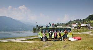 Nepali bus stock photo