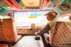Nepali bus driver Royalty Free Stock Images