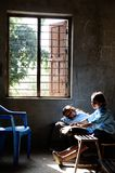 Nepali Children Study in Class Room Royalty Free Stock Images