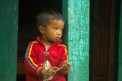 Nepali/criança asiática Imagens de Stock