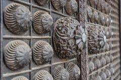 Nepali door decoration at Bhaktapur, Kathmandu Stock Images