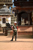 Nepali guard of Honor in Bhaktapur Stock Image
