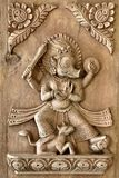 Nepali hand carved wood panel series Royalty Free Stock Photo