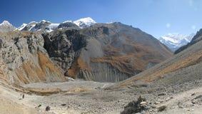 Nepali highlands. Near Annapurna Basecamp Stock Photo
