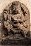 Nepali-indische Gottheit, Affe-Gott, Steinskulptur auf der Tempelwand, Kathmandu, Nepal Lizenzfreie Stockfotografie