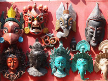 Nepali masks Royalty Free Stock Photos