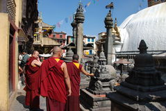 Nepali monks Royalty Free Stock Images
