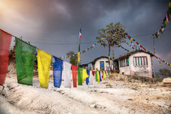 Nepali mountain village Royalty Free Stock Image