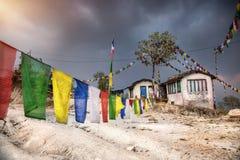 Nepali mountain village Royalty Free Stock Image