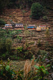 Nepali mountain village royalty free stock photo