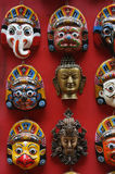 Nepali Painted Masks Royalty Free Stock Image