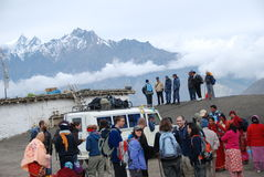 Free Nepali People And Tourists Taking The Local Ride Stock Photography - 17609132