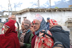 Nepali people in a small village Stock Photos