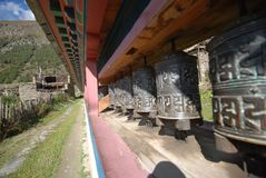 Nepali Prayer wheels Royalty Free Stock Images