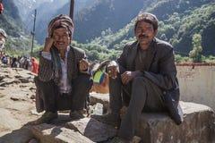 Nepali Sherpas fotografía de archivo