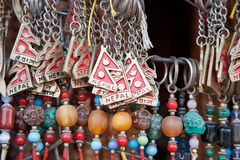 Nepali souvenirs. Close up of a selection of souvenirs, Kathmandu, Nepal Stock Images