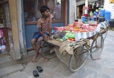 Nepali Street  Vendor Stock Photos