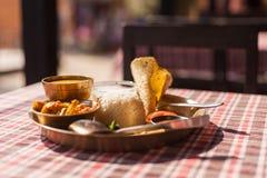 Nepali Thali-Satz Lizenzfreie Stockfotos