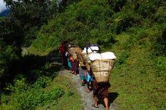 Nepali-Träger Lizenzfreie Stockbilder