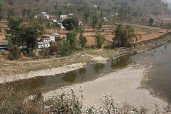 Nepali village Stock Photography