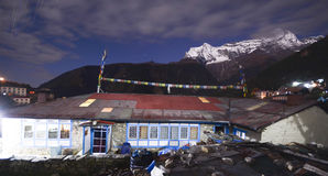 Nepali village at night Royalty Free Stock Photos