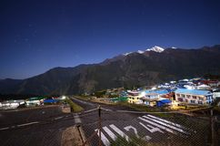 Nepali village at night Royalty Free Stock Images