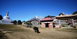 Nepali village of Tengboche Royalty Free Stock Image