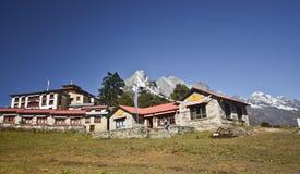 Nepali village of Tengboche Royalty Free Stock Photo