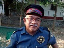 Nepali watchman in Pune Stock Image