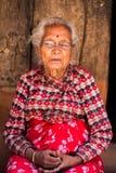 Nepali woman royalty free stock photo