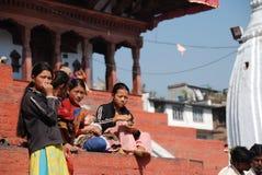 Nepali women Stock Photos