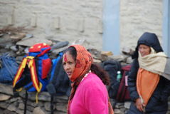 Nepali women in a small village Stock Images